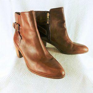 LOUISE ET CIE Zalia Saddle Tan Leather Bootie 10M